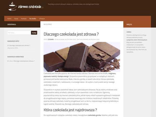 Zdrowa czekolada blog ze zdrową żywnością