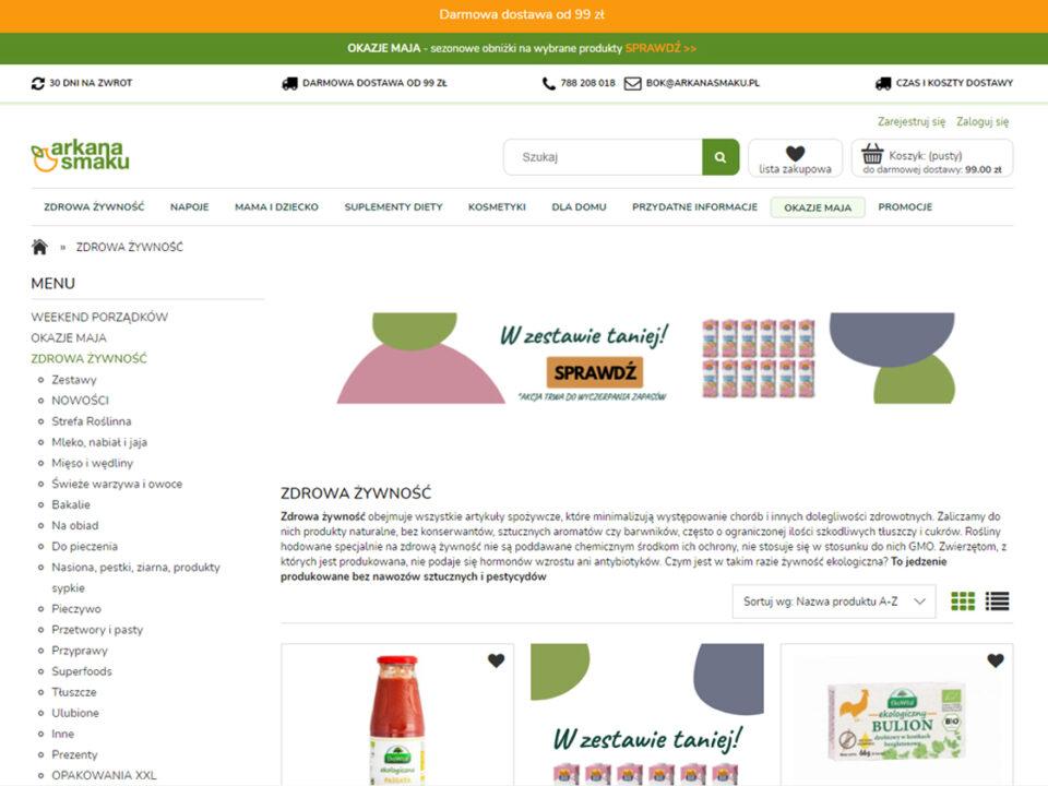 Arkana Smaku - Sklep internetowy ze zdrową żywnością